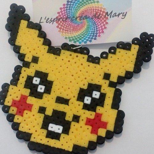 Porte Clés Pixel Art En Perles Hama Pokemon Go Pikachu