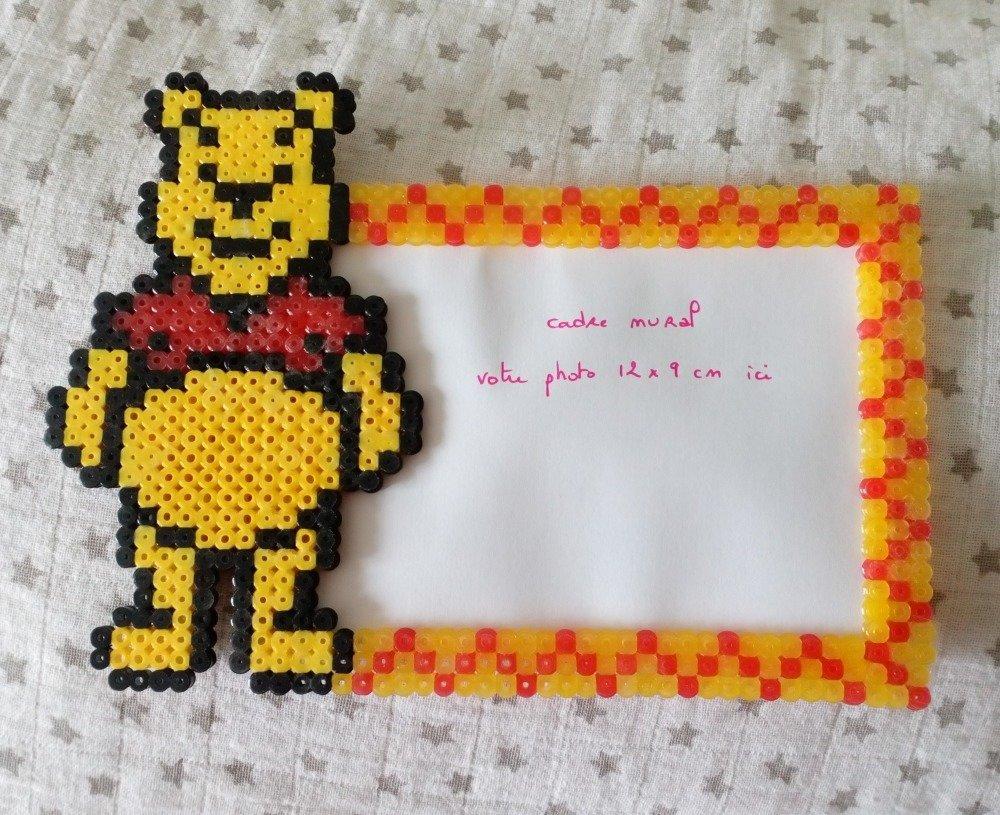 Cadre Mural Pixel Art Winnie Lourson Décoration De Chambre Bébé En Perles Hama