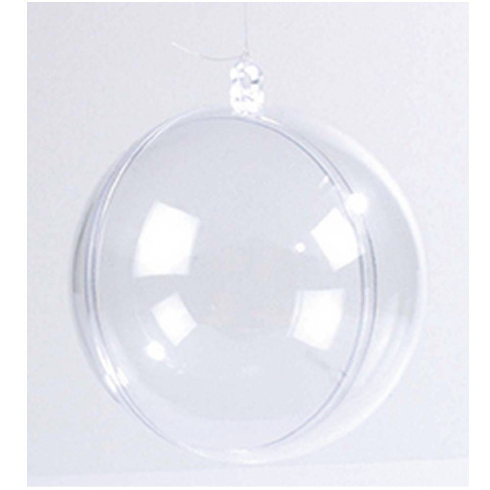 Boules de Noël transparente à décorer Rico Design x 8