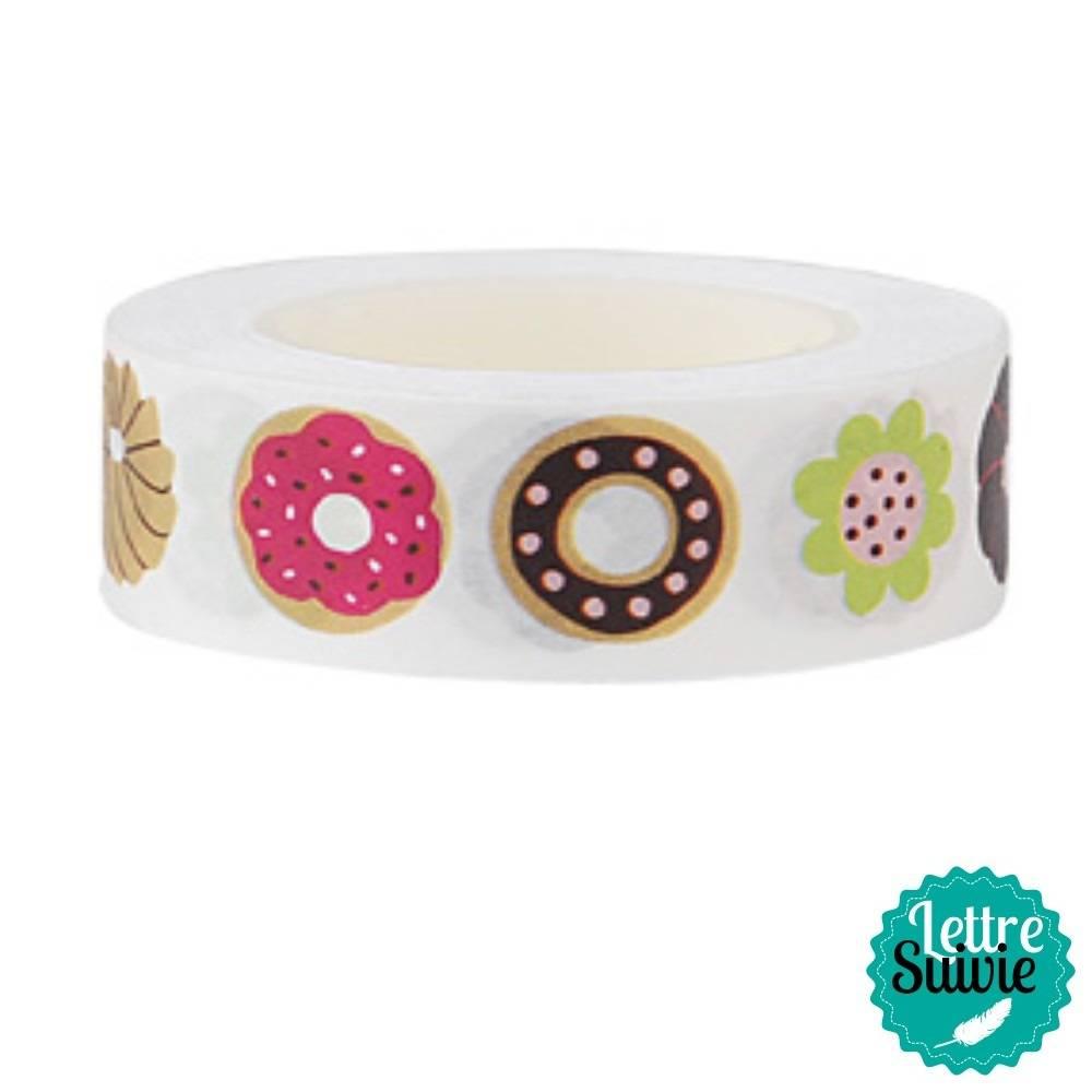 """Rouleau de masking tape """"Donuts"""" de Rico Design"""