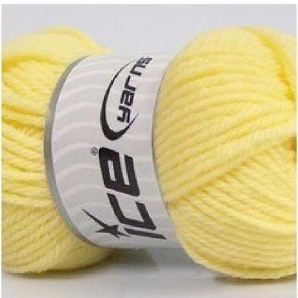 "Pelote de laine ""Eskimo wool"" : jaune, aig n°5"