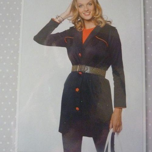 patron couture facile  TRENCH  MARINE pour femme