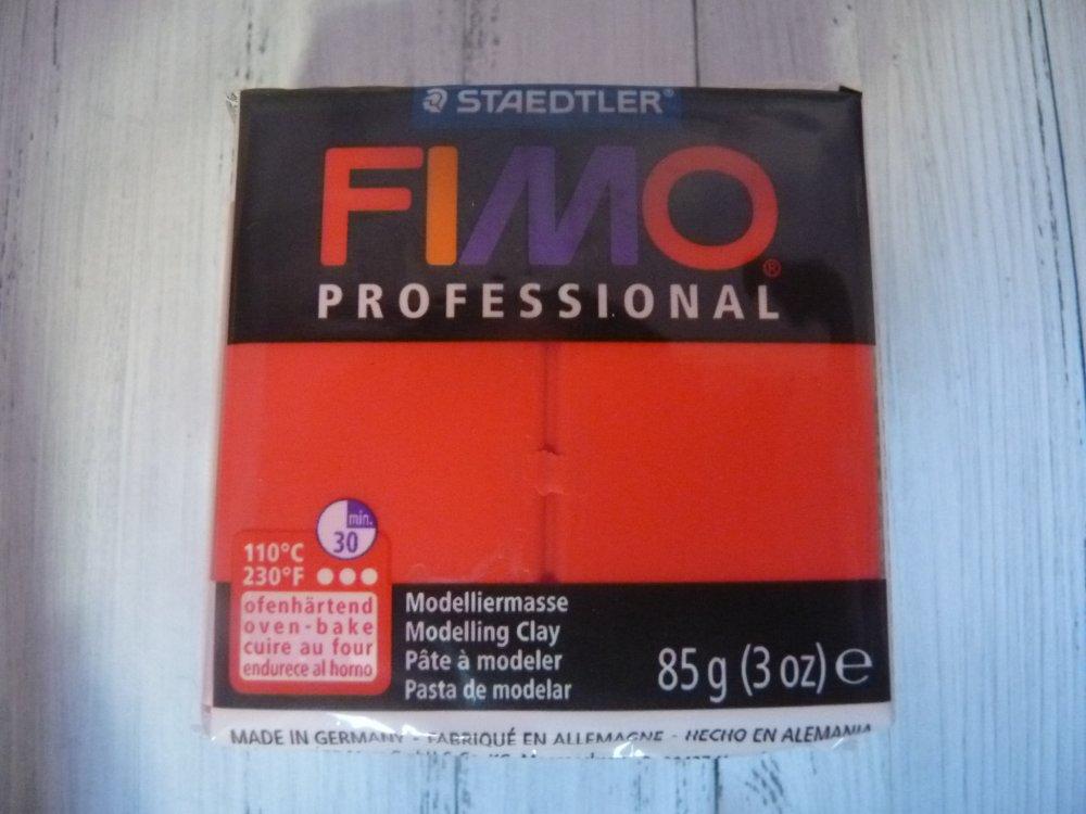 Pâte polymère FIMO Pro rouge
