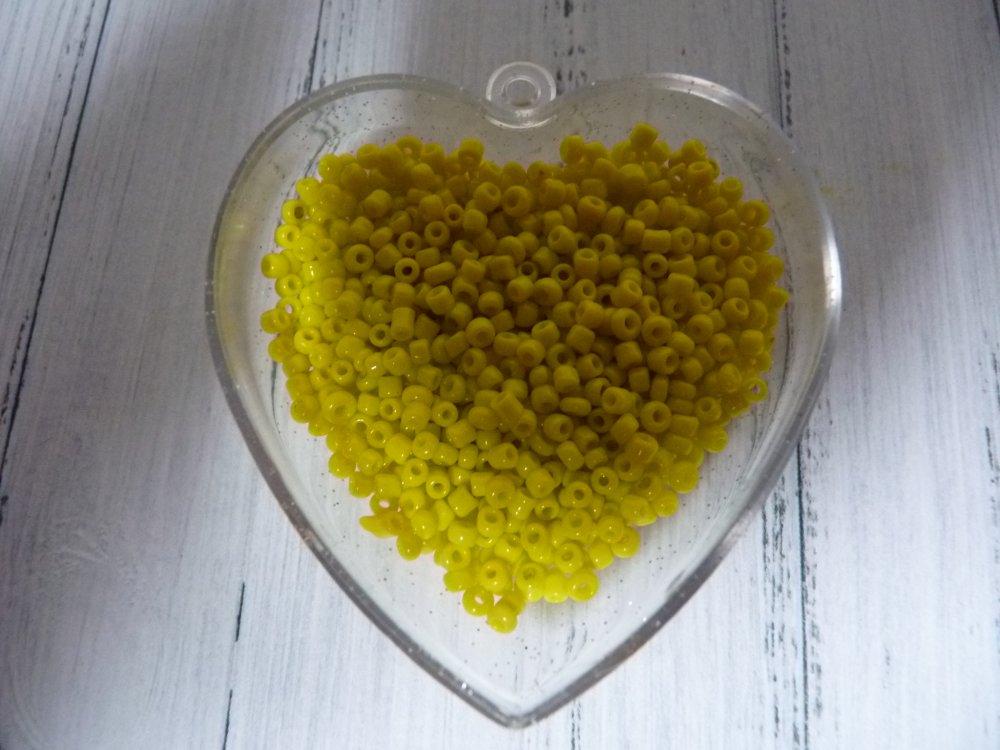 Lot de 1000 perles de rocaille Miyuki jaune