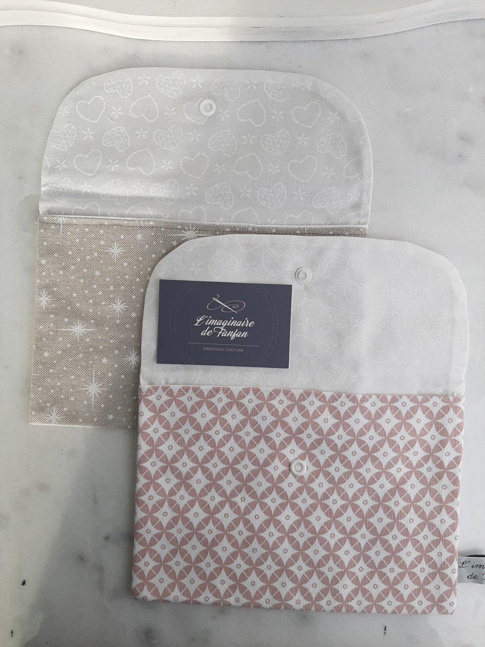 Pochette pour sac à main, étoile beige et blanc