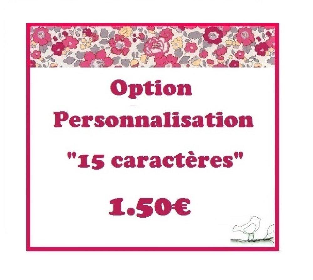Votre PRENOM au choix (15 caractères) - Option personnalisation -
