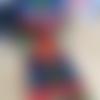 Ruban de noël, 63 mm, filaire souple, couleurs mêlées, vert, orange, bleu, jaune, rouge, or sapin, cadeau...vendu au mètre