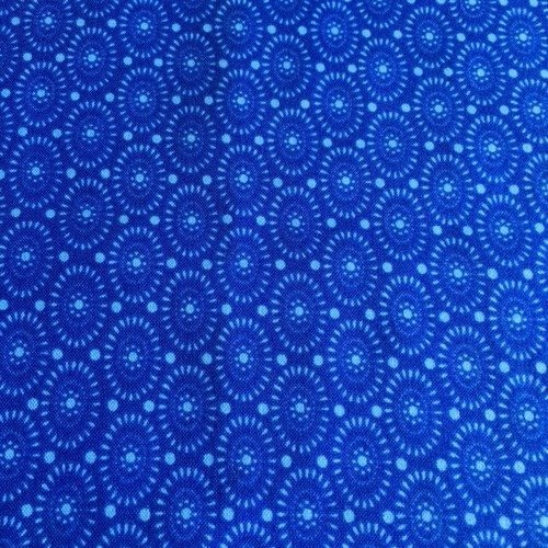 Tissu Patchwork coton américain Bleu Marine  45 cm x 55 cm