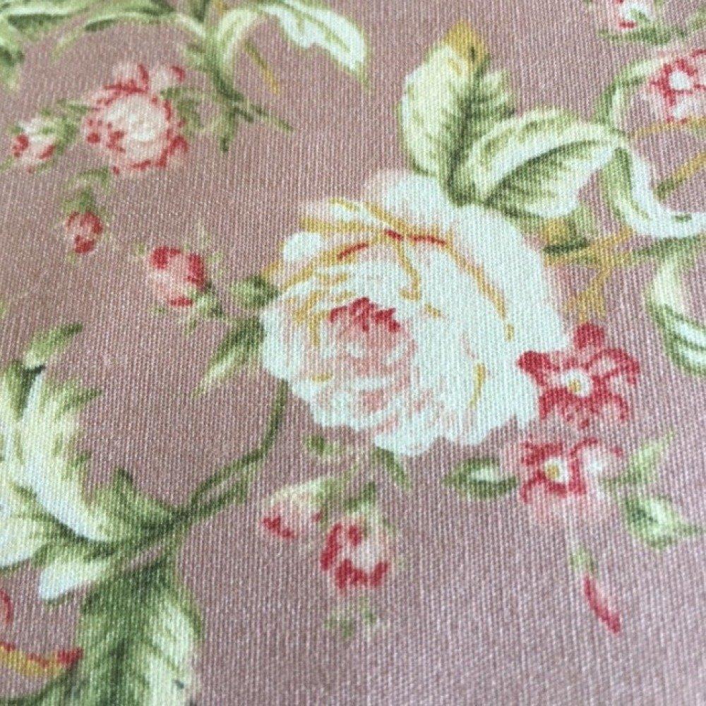 Tissu en 100 % coton, shabby, pour Quilting, Patchwork, fleurs sur fond rose ancien, neuf, 55/50 cm, EU