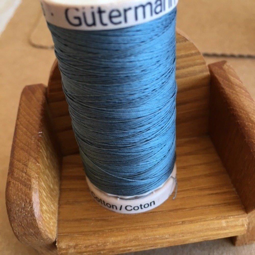 Fil à Quilter main Gütermann, Patchwork, 100 % coton mercerisé, 200 mètres, Coloris Gris Bleu N°: 6716
