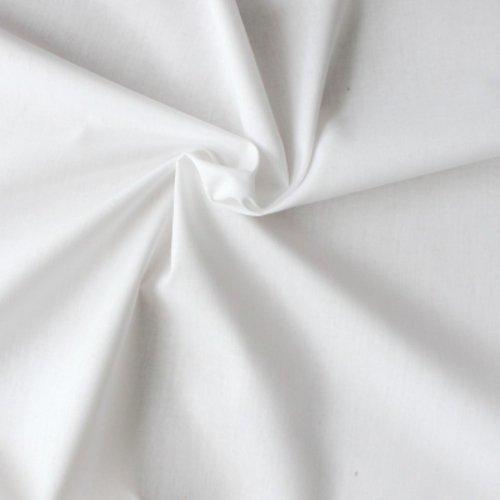 Tissu en coton, stof uni, blanc, large de 150 cm, 1.5 m, patchwork, couture, vente par 25 cm de haut