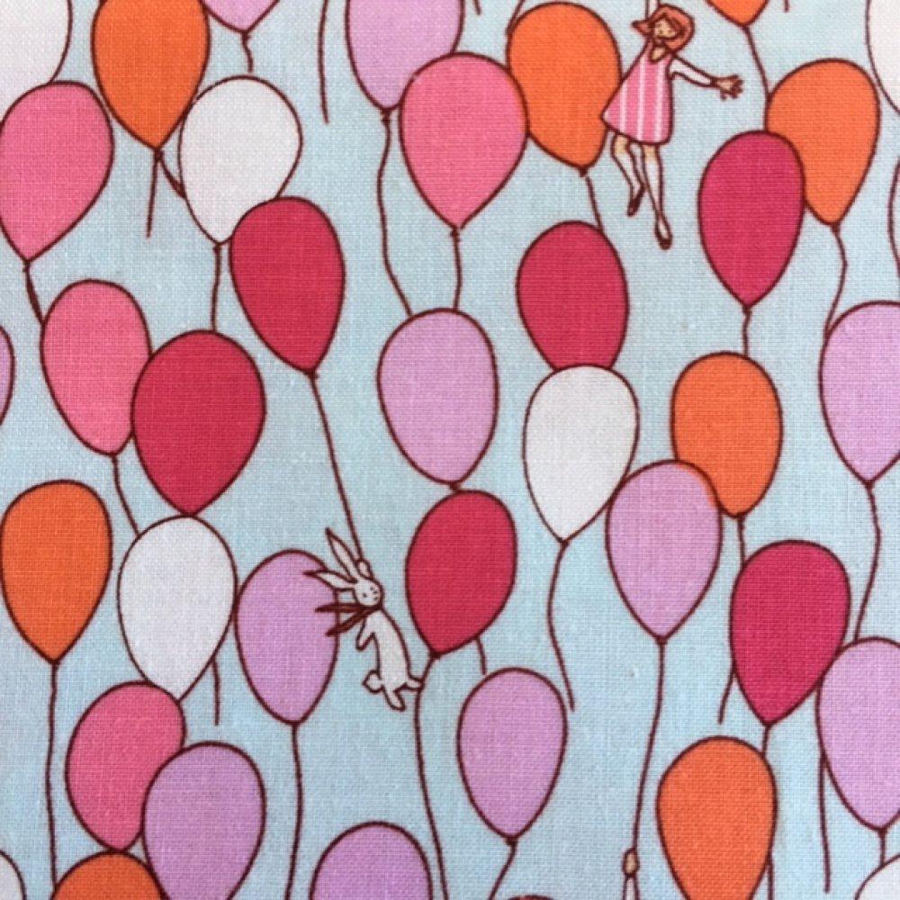 Nouveau ! Tissu Michael Miller USA, en coton, Children at Play Balloon, couleur Aqua, vente par 55/45 cm