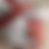 Ruban en lin et coton, à damier, rouge et écru, 12 mm de large, neuf, il est vendu au mètre