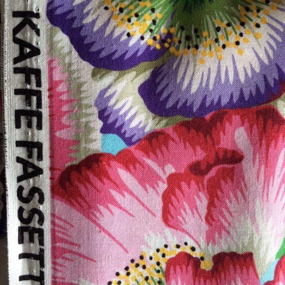 Tissu en coton, gros coquelicots,  P.Jacobs pour Kaffee Fasset, coton, 110 de laize, vente par 50 cm