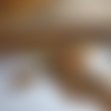 Collier mi-long boho chic/ethnique, jaspe paysage, pendentif feuille en jaspe, automne, beige/ocre/marron, rétro,collier gemmes