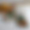 Créoles cuivre et pierres fines, heishi de turquoise africaine et de jaspe impérial, créoles boho chic, rustique, vert/orange