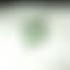 Bague rectangulaire en perles swarovski vertes et grises