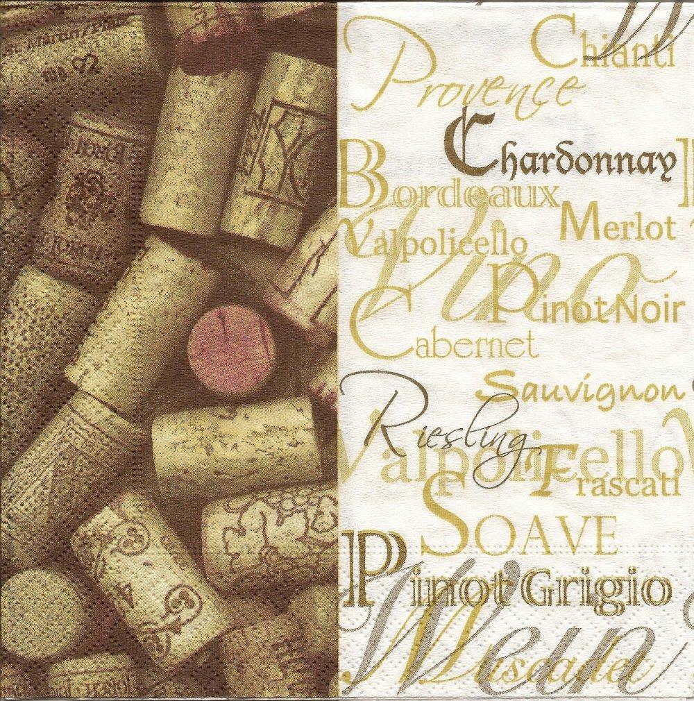 """Serviette en papier """"Autour du Vin"""""""