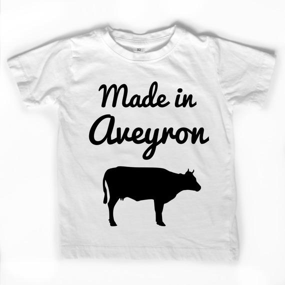 "T-shirt blanc ""Made in Aveyron"""