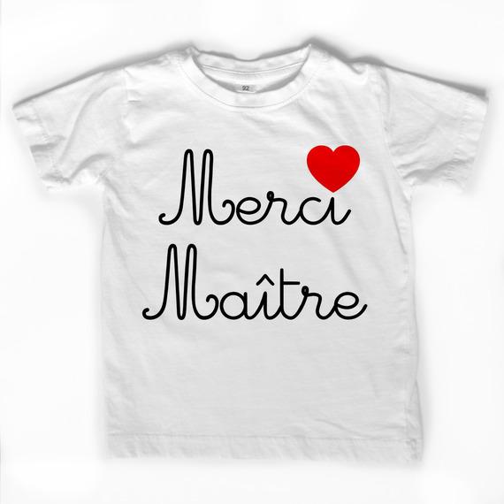 """T-shirt blanc """"Merci Maître"""""""