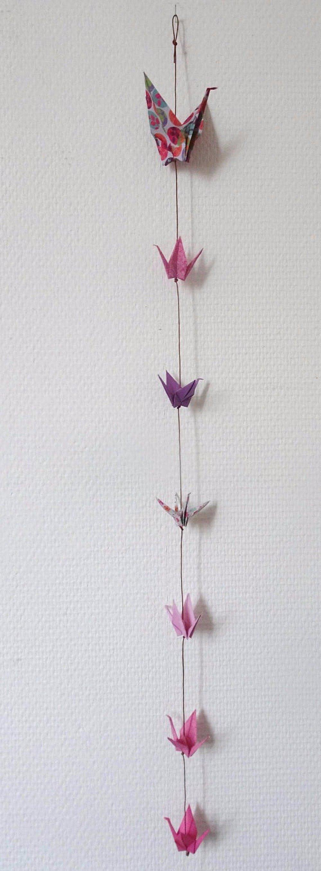 Guirlande grue origami