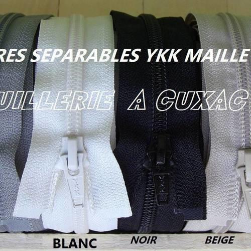Z54 blanc 400 fermeture éclair 135 cm séparable spéciale combinaison sac ..