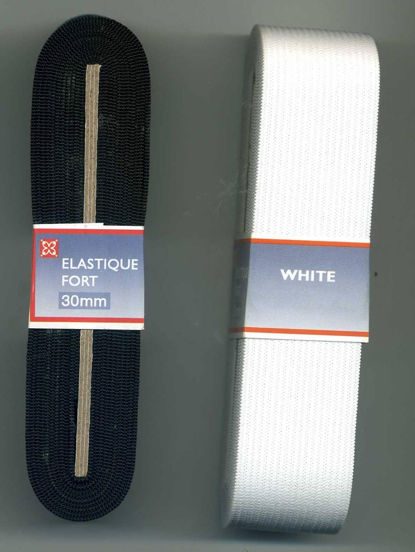 Elastique large , 30mm , blanc , caoutchouc blanc 3cm , elastique 3 cm , ruban elastique fort