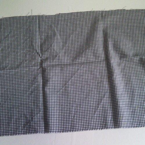 Coupon tissu à carreaux