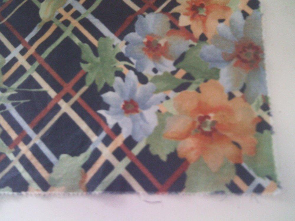 Coupon tissus à fleur