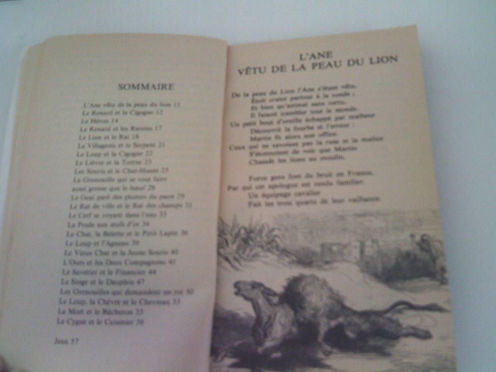Livre Fables Jean de la Fontaine