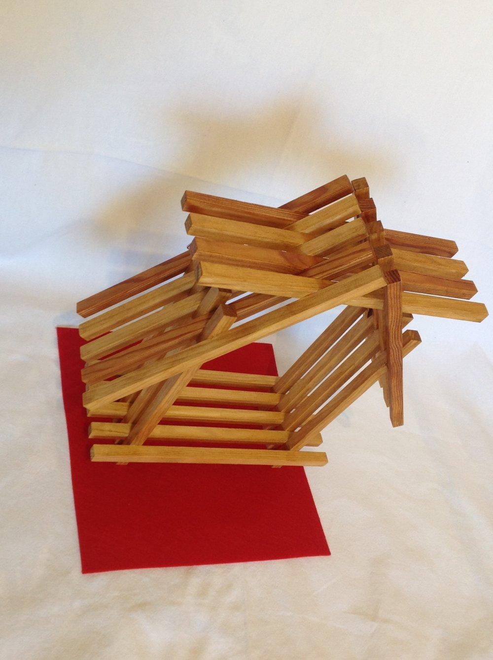 Étagère décorative en bois