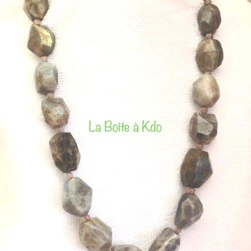 Collier labradorite pierres naturelles