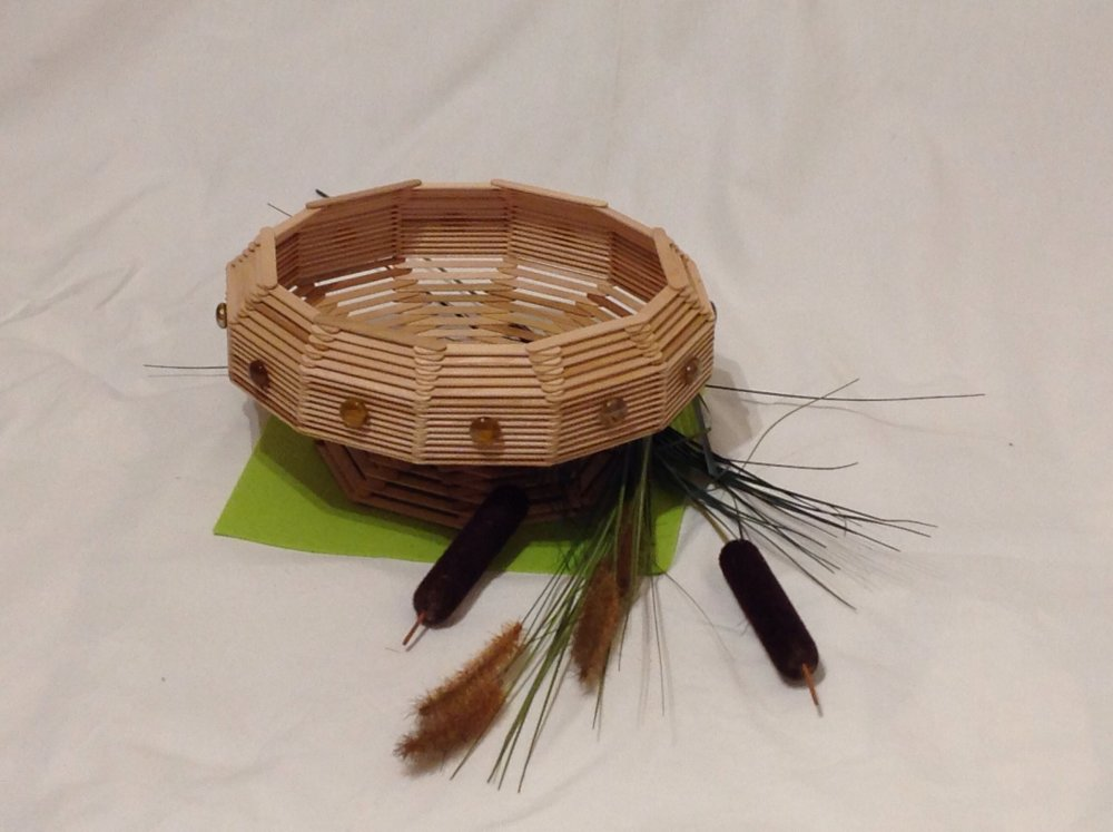 Corbeille vide poches en bois