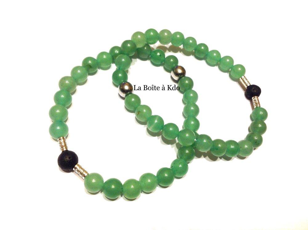 Bracelet pour Homme en Perles Naturelles  Aventurine