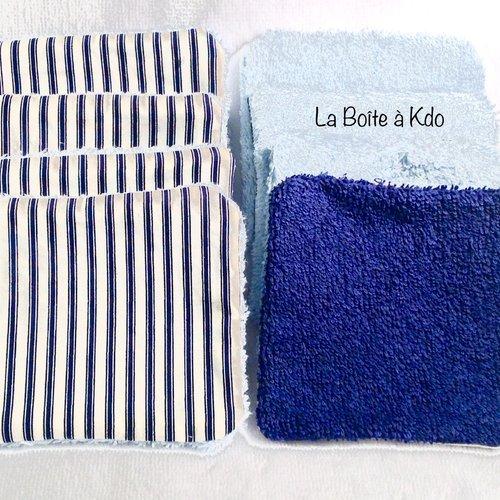 Lingettes  lavables réutilisables
