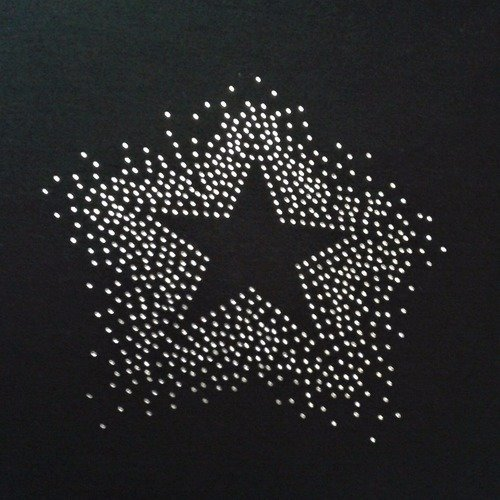Transfert étoile strass 20 cm thermocollant