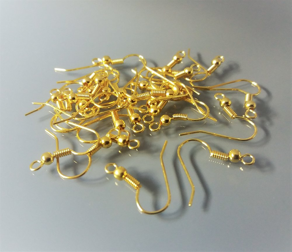 30 supports boucles d'oreilles métal coloris doré