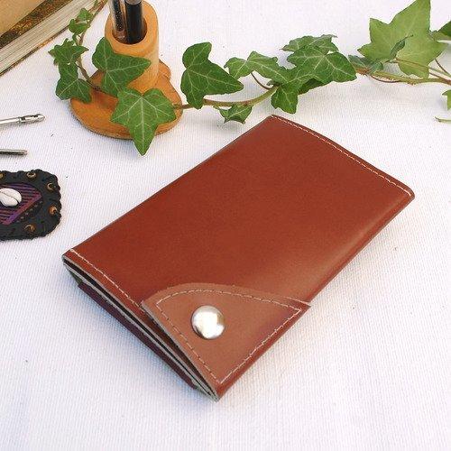 Etui pour téléphone et porte-cartes en cuir