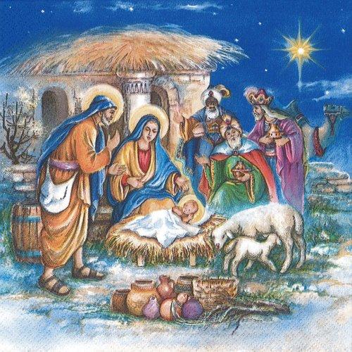 Serviette papier bethlehem naissance de l'enfant jésus
