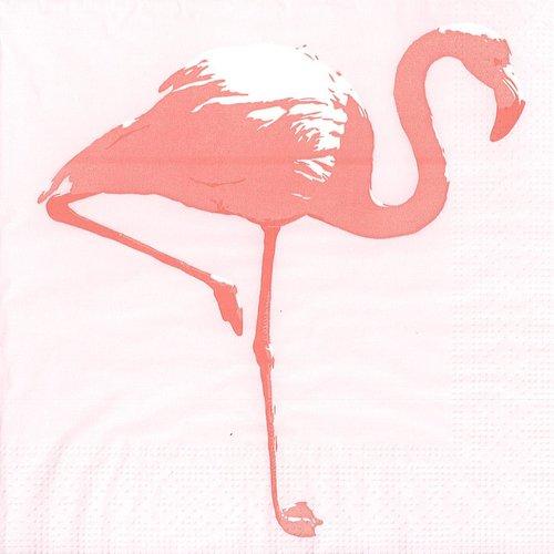 Serviette papier silhouette flamand rose