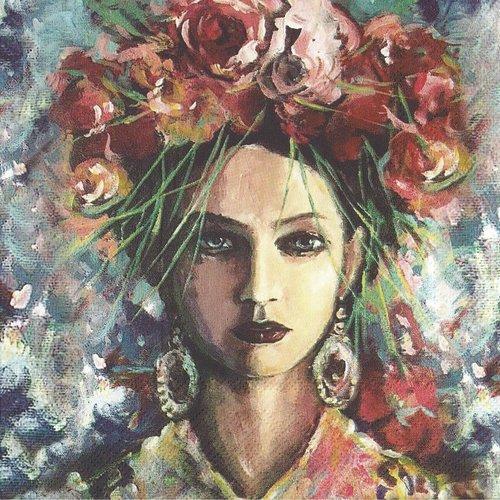 Frida Kahlo Marque Page Cabochon Originale Art Peinture Frida Kahlo Un