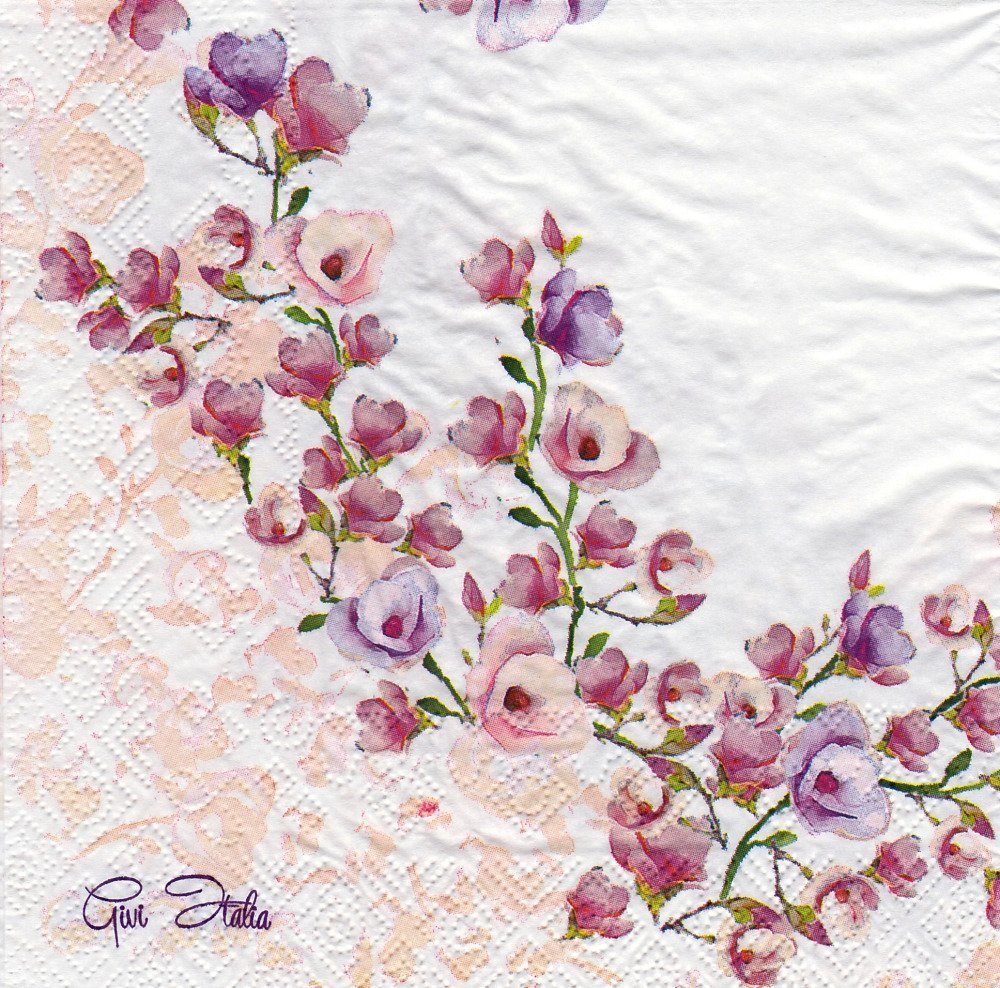 Serviette Branche de Petites Fleurs de Cerisiers