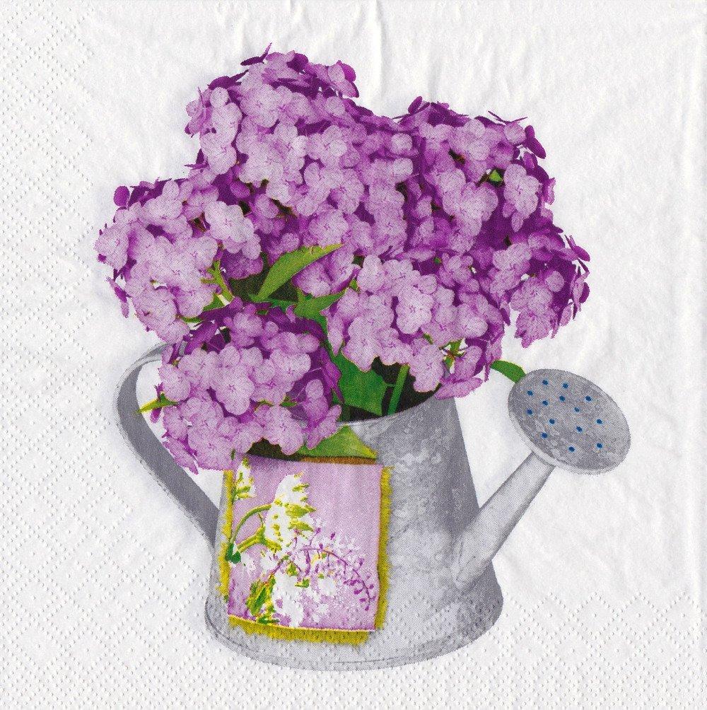 Serviettes Hortensia 20 pièces-œ serviette