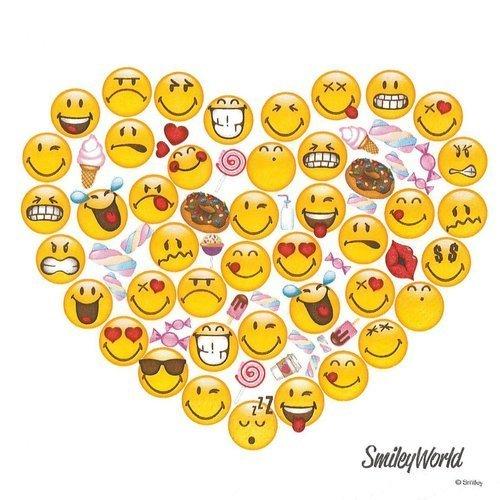 Serviette Papier Coeur Rempli De Smiley