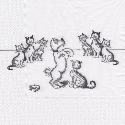 Serviette chat dressage de chiens
