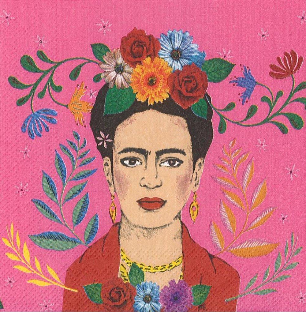 Petite Serviette 25x25 Portrait Frida Kahlo