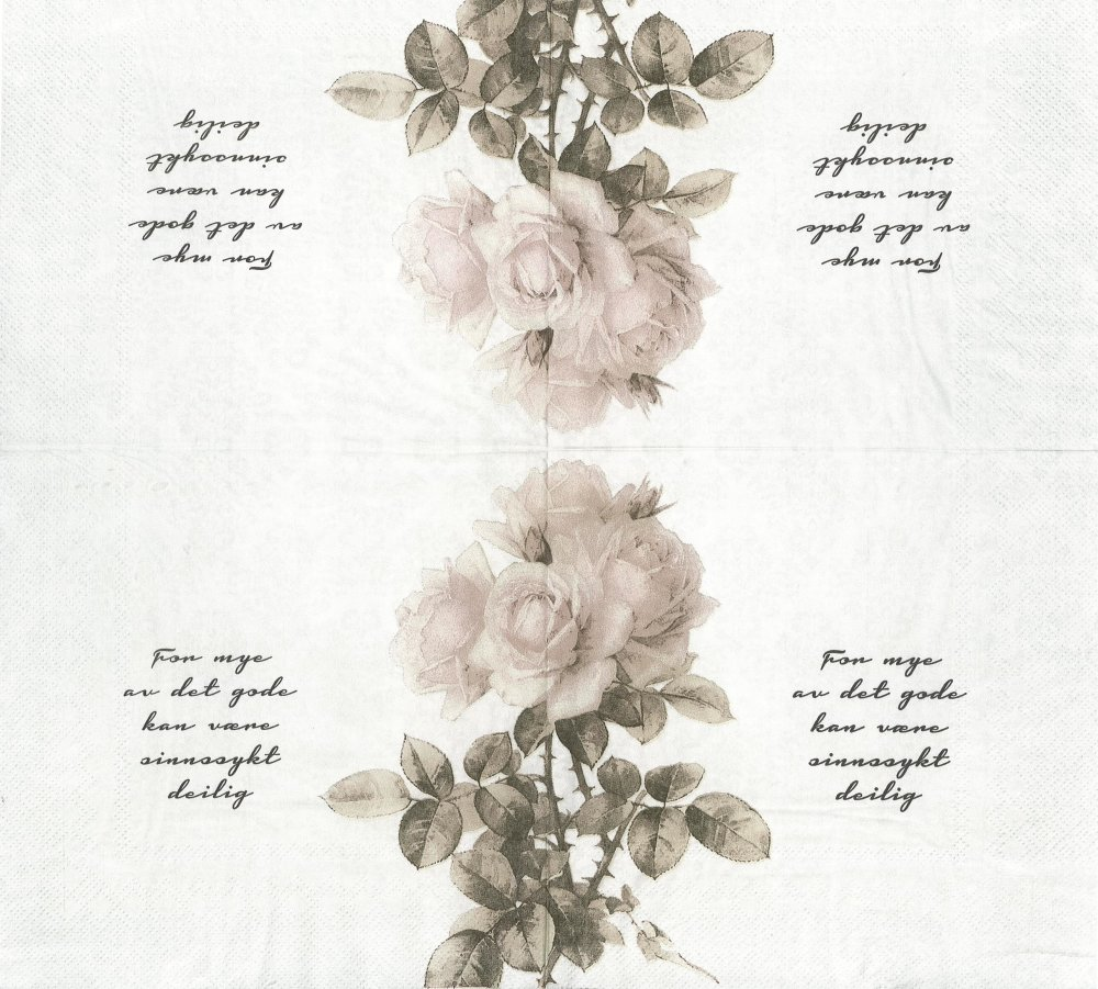 Serviette Papier Rose Ancienne Rétro