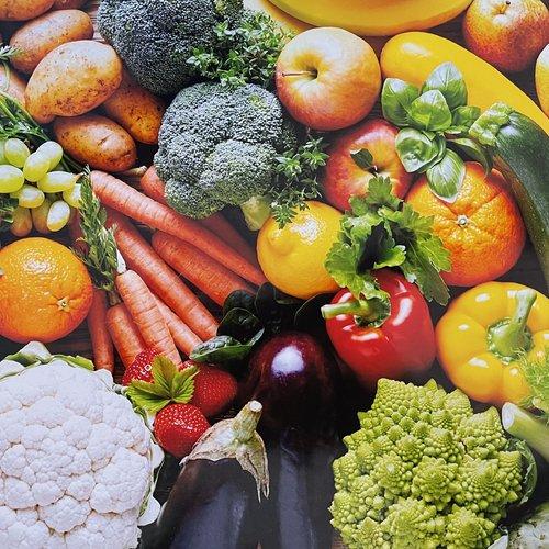 Set de table plastifié «fruits et légumes»