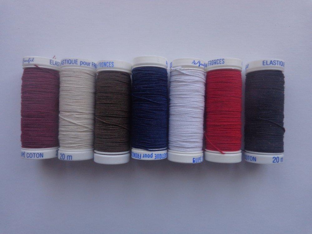 fil pour fronces , couleur  bordeaux