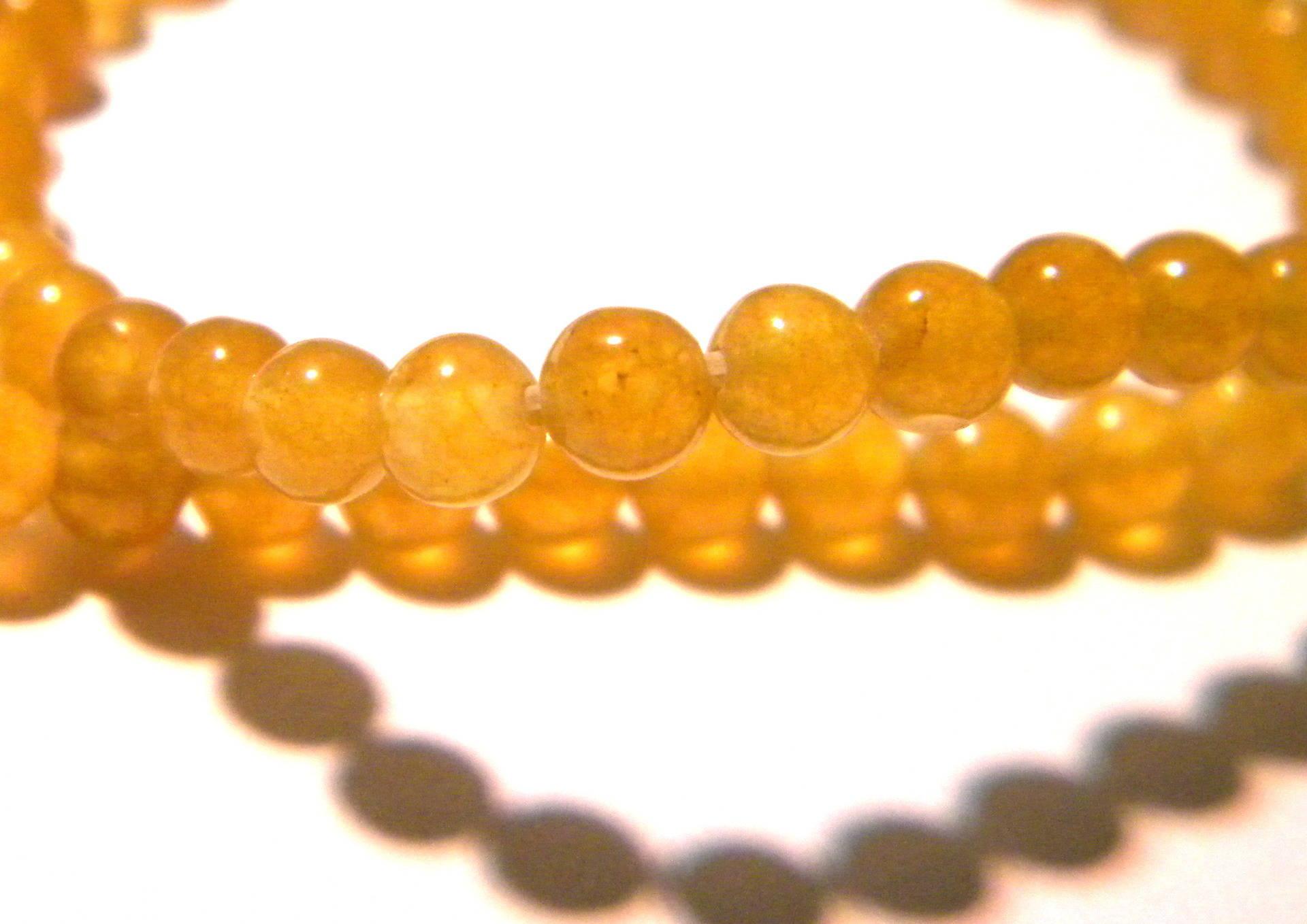 20 perles de verre 4mm jaune